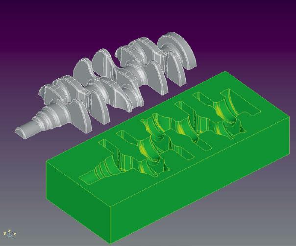 鍛造金型製品モデル