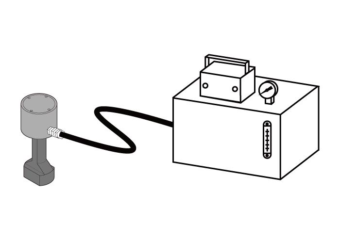 従来の油圧クランプ